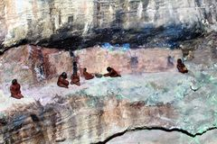 Walnut Canyon. Display miniature model at Walnut Canyon, National Monument in Arizona royalty free stock images