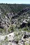 Walnut Canyon. Hiking trail at Walnut Canyon, National Monument in Arizona royalty free stock images