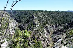 Walnut Canyon. National Monument in Arizona stock photography