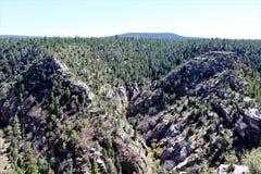 Walnut Canyon. National Monument in Arizona stock photo