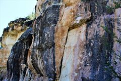 Walnut Canyon. Sandstone wall at Walnut Canyon, National Monument in Arizona royalty free stock photo