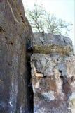Walnut Canyon. Sandstone wall at Walnut Canyon, National Monument in Arizona royalty free stock image