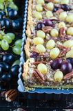 Walnut caramel tart Royalty Free Stock Images