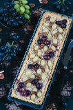 Walnut caramel tart Royalty Free Stock Photos