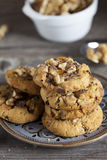 Walnut Chili Cookies on a Plate Royalty Free Stock Image