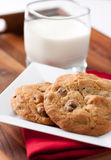 Walnut and chocolate chip cookies Royalty Free Stock Image