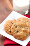 Walnut and chocolate chip cookies Stock Photo