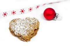 Walnut Christmas Cookie Stock Photos