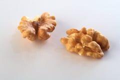 Walnut closeup. Cracked walnut stock photos