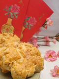 Walnut Cookies. Traditional Chinese New Year walnut cookies Stock Photo