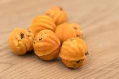 Walnut Cookies, Sweet Memories close up Stock Images