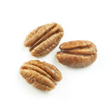 Walnut coverd in oil isolated on a white background Stock Image