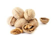 Walnut and a cracked walnut Royalty Free Stock Photo