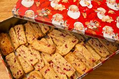 Walnut Cranberry Biscuits Royalty Free Stock Image