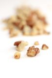 Walnut crumbs Stock Photography
