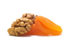 Walnut and dried apricot Stock Photo