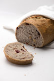 Walnut and dry cranberry bread Royalty Free Stock Photos