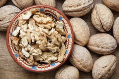 Walnut. Eastern medicine believes that the nut strengthens the brain, heart and liver Royalty Free Stock Photos