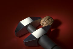 Walnut and french key tool Stock Photos
