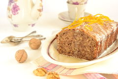 Walnut fruitcake Royalty Free Stock Images