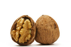 Walnut and a half Stock Image