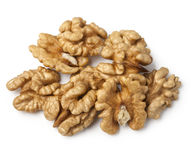 Walnut half heap Royalty Free Stock Images