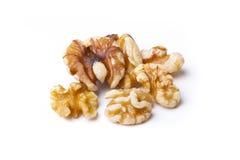 Walnut Halves. Walnut halves  on white background Stock Images