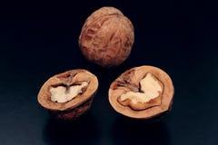 Walnut halves Royalty Free Stock Photography
