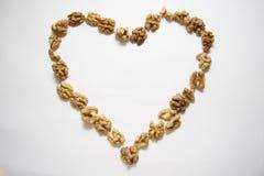 Walnut heart Royalty Free Stock Photos