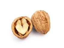 Walnut heart-shape Stock Image
