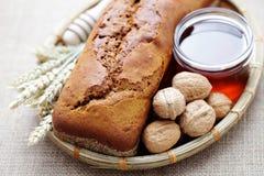 Walnut and honey bread stock photo