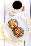 Walnut, honey muffins Stock Images