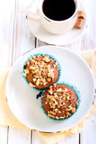 Walnut and  honey muffins Royalty Free Stock Images