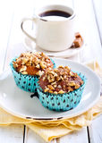 Walnut and  honey muffins Stock Image