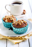 Walnut and  honey muffins Stock Photo