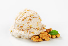 Walnut ice cream Royalty Free Stock Photography