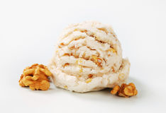 Walnut ice cream Stock Photos