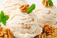 Walnut ice cream Stock Images