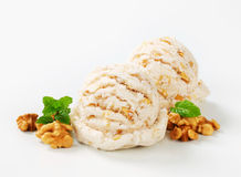 Walnut ice cream Royalty Free Stock Photos