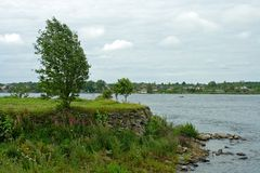 Walnut island, source of the river Neva Royalty Free Stock Images