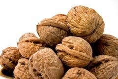 Walnut isolated on white background. Wild walnuts isolated on white background Stock Photo