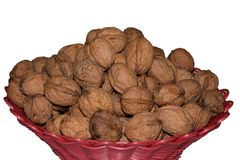 Walnut isolated on white background. with clipping path Royalty Free Stock Images