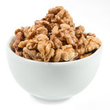 Walnut kernel in the bowl Royalty Free Stock Images