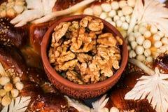 Walnut kernel Stock Image
