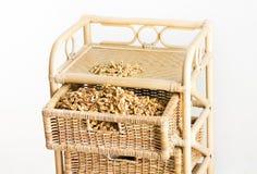 Walnut kernel on pile Stock Photo