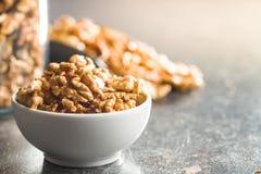 The walnut kernels royalty free stock photo