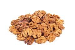 Walnut kernels isolated. On the white background Stock Photo