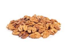 Walnut kernels isolated. On the white background Royalty Free Stock Images