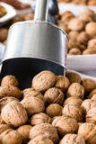 Walnut kernels at local market. Stock Photo