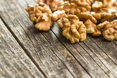 The walnut kernels stock photo